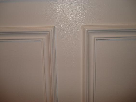This Is A Chair Rail Followed By Sub Below It Wall Frame Then Painted Semi Gloss Ultra White Enamel